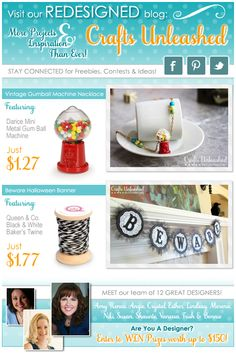 Visit Crafts Unleashed, Our Newly Redesigned Blog, For Unique, Affordable Project Ideas Daily!