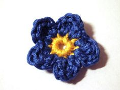CROCHET PATTERNS (Flower Pattern #84 Forget-me-not) -Crochet ...