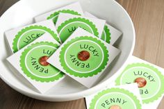 Lucky Penny Cards. I would make the outer shape a 4 leaf clover