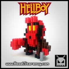 Hellboy Red 3D Voxel Perlerbead (Hellboy) - Thumbnail 1