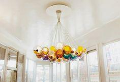 pendant lighting trends modern pendant light design colorful glass orbs cluster