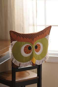 """owl chair decor #kirklands #seasonaldecor May be """"too much"""" but who cares!! It's owl seat covers! Woohoo!!"""