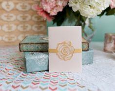 La venda del vientre invitación boda - Set de 10 - oro rosa