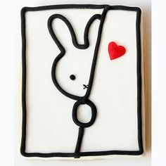 Miffy cookie, cute bunny cookie, heart, valentine idea
