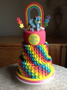 My Little Pony Rainbow Dash Cake by Canami Bespoke Cakes and Patisseries