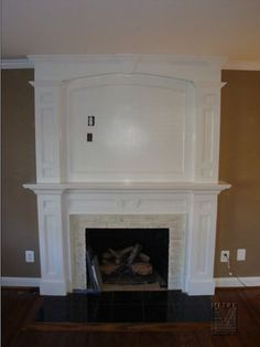 fireplace makeover for living room, w/ stone and gas insert fireplace