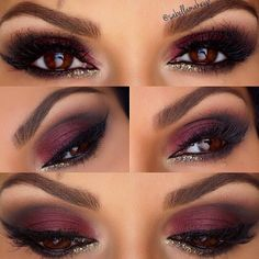 Just gorgeous wine colored eyes by @sabellamakeup using @motivescosmetics Element palette. #eotd #makeuplooks http://tamirahamilton.com/gtl (at tamirahamilton.com/gtl)