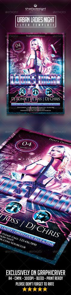 Urban Ladies Night Flyer Template Official website : http://thats-design.com/