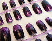 sparkly gradient from hot pink to dark purple