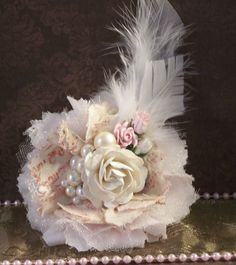 no tutorial attached to pin. but I think I can recreate Tulle Flowers, Shabby Flowers, Burlap Flowers, Faux Flowers, Diy Flowers, Vintage Flowers, Fabric Flowers, Paper Flowers, Ribbon Embroidery Tutorial