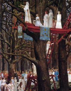 Druidic ceremony of cutting mistletoe.