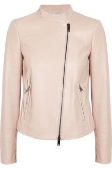 DKNY Pale pink leather jacket