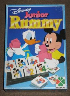Disney Junior Rummy - Selecta - Sassafrass Store Board Games For Kids, Kids Board, Disney Junior, Puzzles, Vintage, Store, Nostalgia, Puzzle, Larger