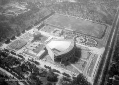 El Auditorio Nacional en construcción, visto desde las alturas a inicios de 1952.