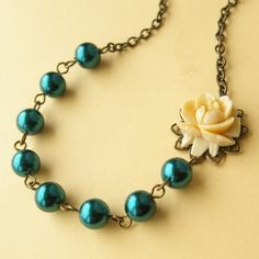 """I""""m thinking any kind of teal pearl will be good to mirror my pearls from my wedding day"""