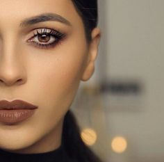 Dose of colors mate liquid lipstick in the color CORK // that eyeshadow look is perfection.