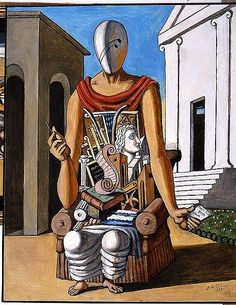 Art - From Monet to Rothko to Giorgio de Chirico, all create different feelings, sounds and words with their works. Italian Painters, Italian Artist, Yves Tanguy, Modern Art, Contemporary Art, Art Optical, Surrealism Painting, Traditional Paintings, Fantastic Art