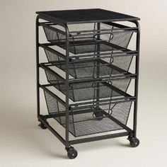 office rolling cart. Industrial And Airy, Our Espresso-toned Cart Is A Model Of Sleek  Efficiency. Four Wire Drawers - Three Small, One Large Make It Easy To Sort See Office Rolling