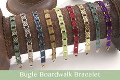 Longing for summer again already? Try our Bugle Boardwalk Bracelet! The vivid splashes of color of these Miyuki bugle beads will have you looking hot all year round. Free tutorial available at caravanbeads.com