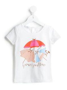 umbrella print T-shirt