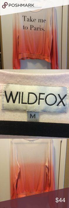 Wildfox take me to Paris beach jumper M Classic wf beach jumper. Soft. Worn once. Price firm. Wildfox Tops Sweatshirts & Hoodies