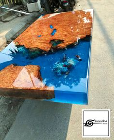Sold out-Epoxy resin transparent coffee table handcrafted custom fish draw most beautiful table (made to order) / dining table Epoxy Wood Table, Epoxy Resin Table, Wood Table Design, Diy Resin Crafts, Stick Crafts, Resin Furniture, Selling Handmade Items, Fish Drawings, Types Of Wood