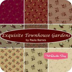 Exquisite Townhouse Gardens Fat Quarter Bundle Paula Barnes for Marcus Brothers Fabrics