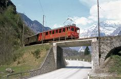 Bahnbilder von Max   ---   Bahnbilder aus der Analogzeit Bahn, Over The Years, Swiss Railways, Switzerland, Snow Plow