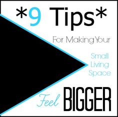 9 Tips For Making Your Small Living Space Feel Bigger - Beauty Through Imperfection