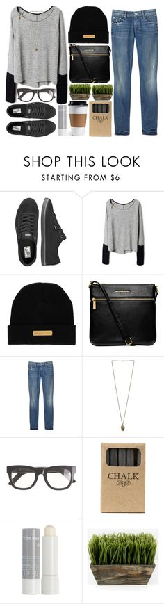"""""""new yorkers"""" by fashionduchess ❤ liked on Polyvore featuring Vans, Marie Marot, Michael Kors, Mother, RetroSuperFuture, Jayson Home and Korres"""