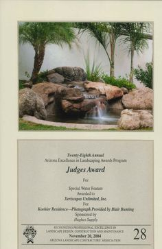 Judge's Award for Special Water Feature, 2004