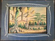"1940 Art Master Background ""Pinocchio Road"" Attributed Shamus Culhane PR08"