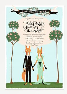Foxy #wedding #invitations