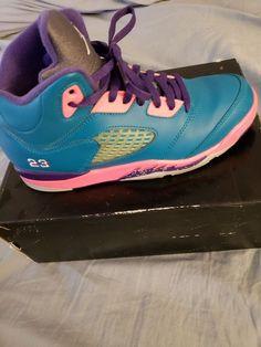 1d8d3f850f92ae Girls Jordan 5 Retro Teals  fashion  clothing  shoes  accessories   kidsclothingshoesaccs  girlsshoes (ebay link)