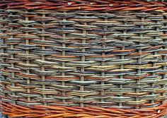 Side weave of willow basket by Katherine Lewis