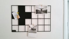 Wire Memo Board, Metal Magnet Grid Board, Noticeboards, Nordic Design, Scandinavian Modern Display, Swiss Cross Wall decor