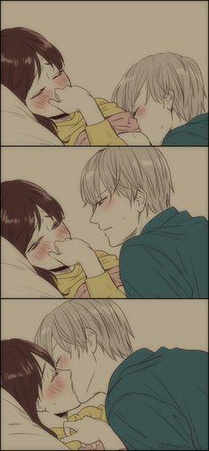 Cute Couple Art, Anime Love Couple, Cute Couple Videos, I Love Anime, Awesome Anime, Cute Couples, Anime Couples Drawings, Couple Drawings, Spongebob Pics