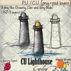 Lighthouse Hand-Drawn