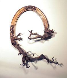 Рамка для картины и ветка, деревянная скульптура Darryl Cox 13
