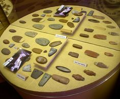 Gorgets and Atlatl weights found at the Poverty Point site.