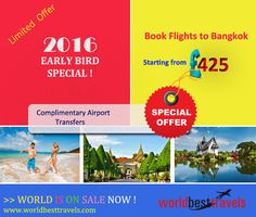 Worldbesttravels offers exclusively cheapest, special and the best fares for Bangkok. Don't envy? Just book it instantly and fill up your vacations with the experience of unique culture, which stays young and always on for fun.