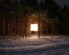 Benoit Paillé Added A Square Light In The Middle Of Night Landscape Images