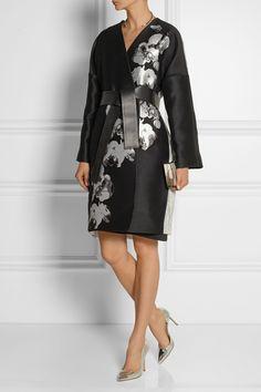 Fendi coat. Gianvito Rossi shoes, Fendi dress, Lee Savage clutch