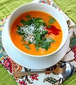 butternut squash soup with curry and coconut milk.