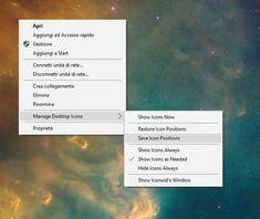 Ripristinare l'ordine delle icone di windows 10 - GERARDO PANDOLFI