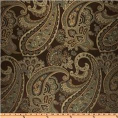 Eroica Candytuft Paisley Jacquard Cocoa. drapes