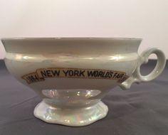 Vintage New York World's Fair Commemorative 1964-1965  Tea Cup Iridescent Color