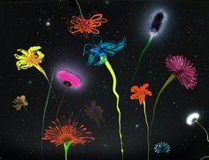 Andromeda Lux / 2010, Lacquer on canvas / 130 x 160 cm. Thierry Feuz - Galleri Christoffer Egelund