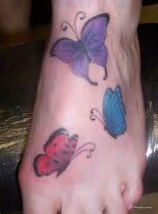 Image detail for -Butterfly tattoos on foot for girls design ideas
