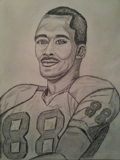Marvin Harrison art print 18x24 by Holly Hill